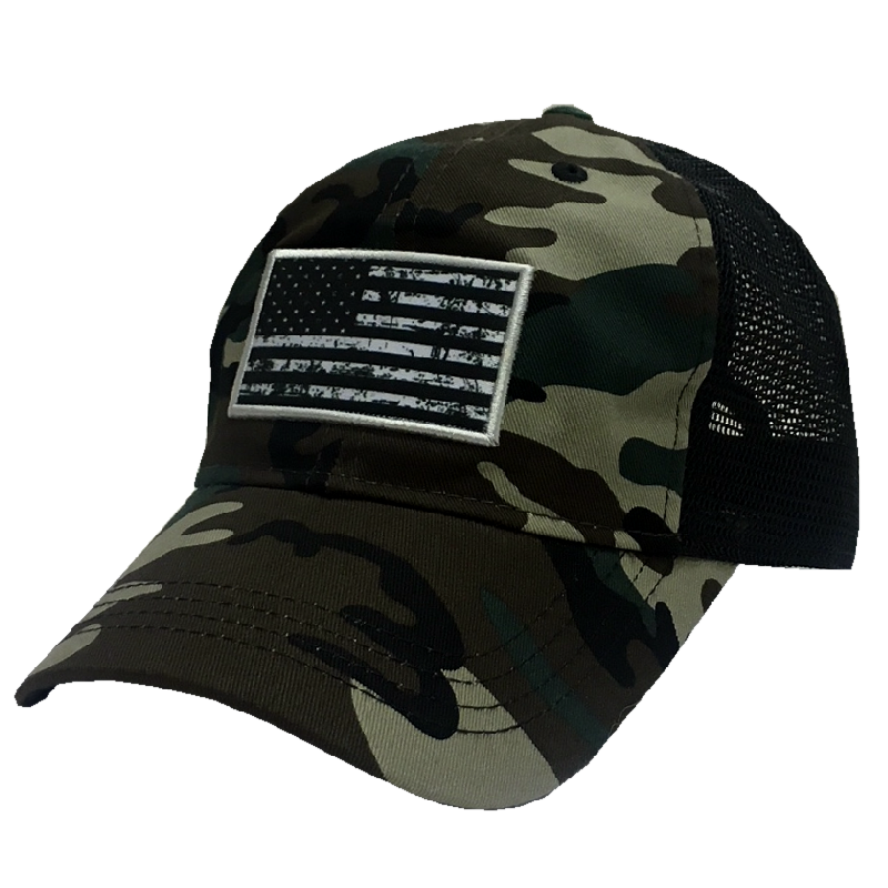 Jessie G Camo and Black Flag Ballcap
