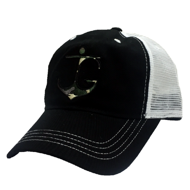 Jessie G Black and White Anchor Ballcap